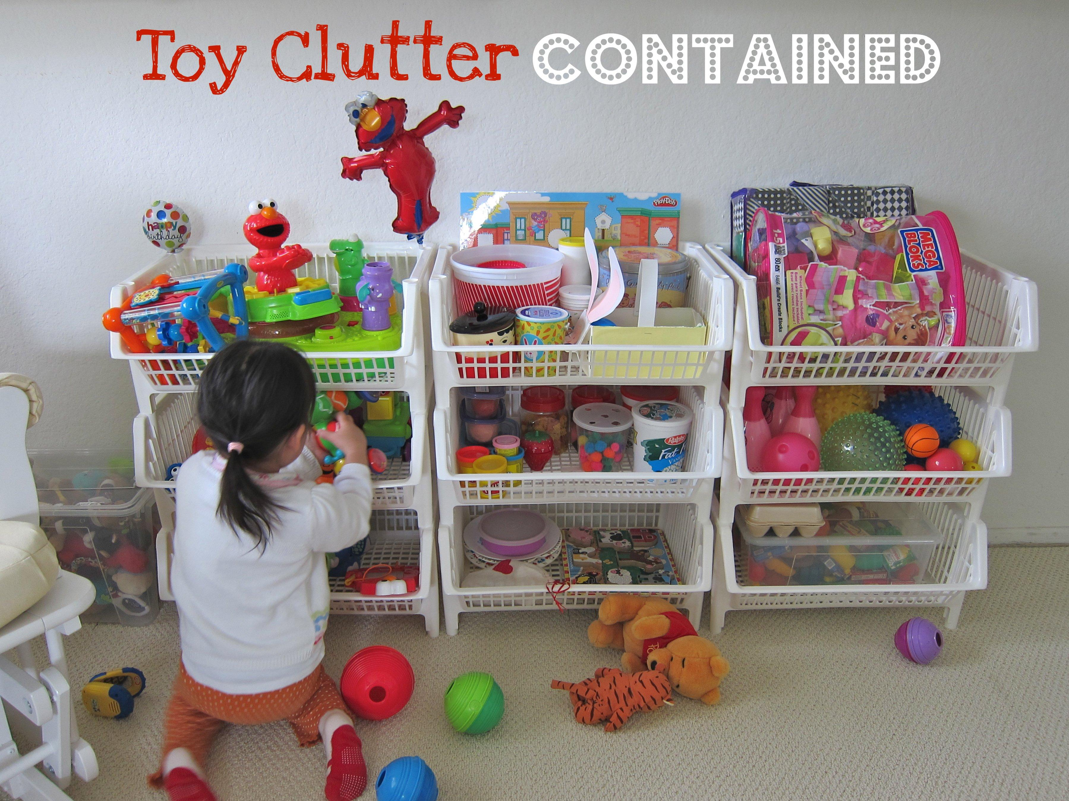 Organized toy clutter JH1